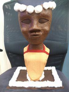 black sharecrop woman bust